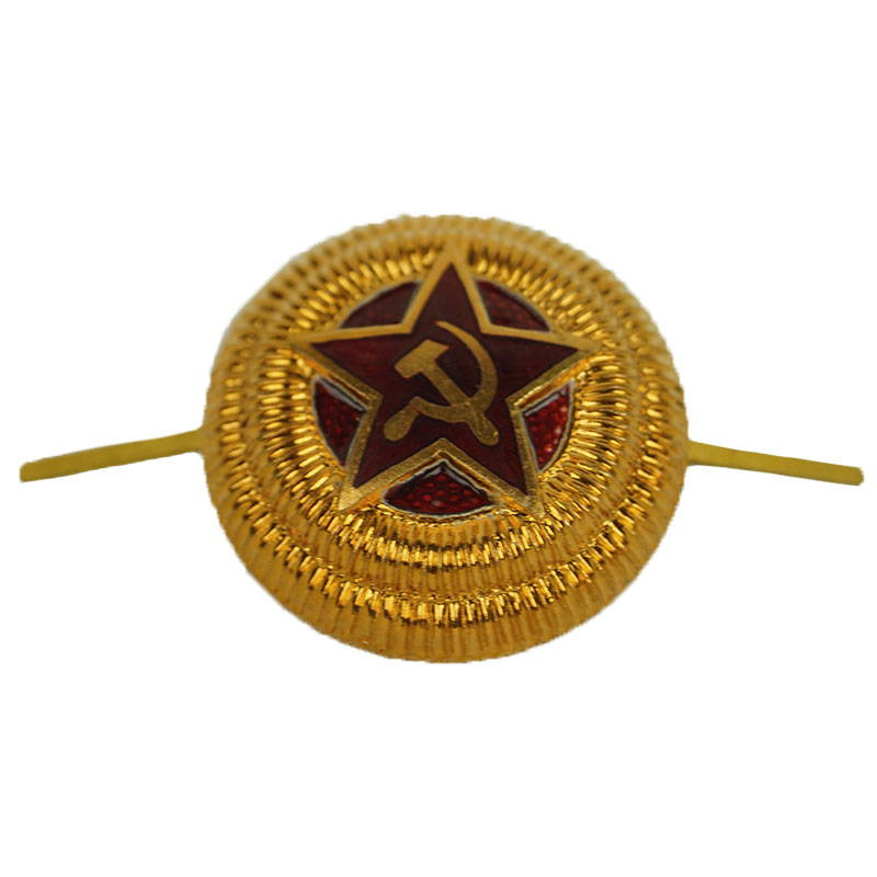 Soviet Russian Military Hat Badge General WW2