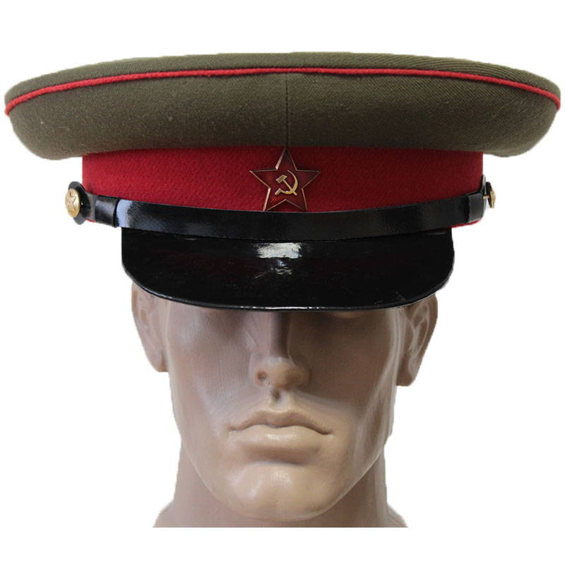 Soviet Red Army Infantry Ground Forces Sergeant Military Visor Hat
