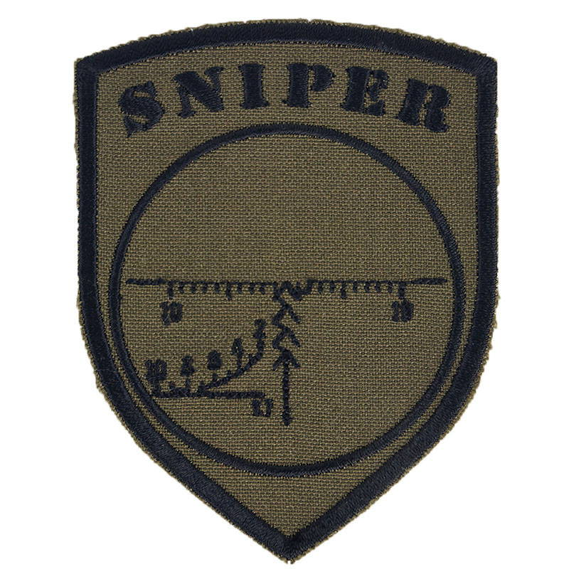 Sniper Embroidered Patch Olive