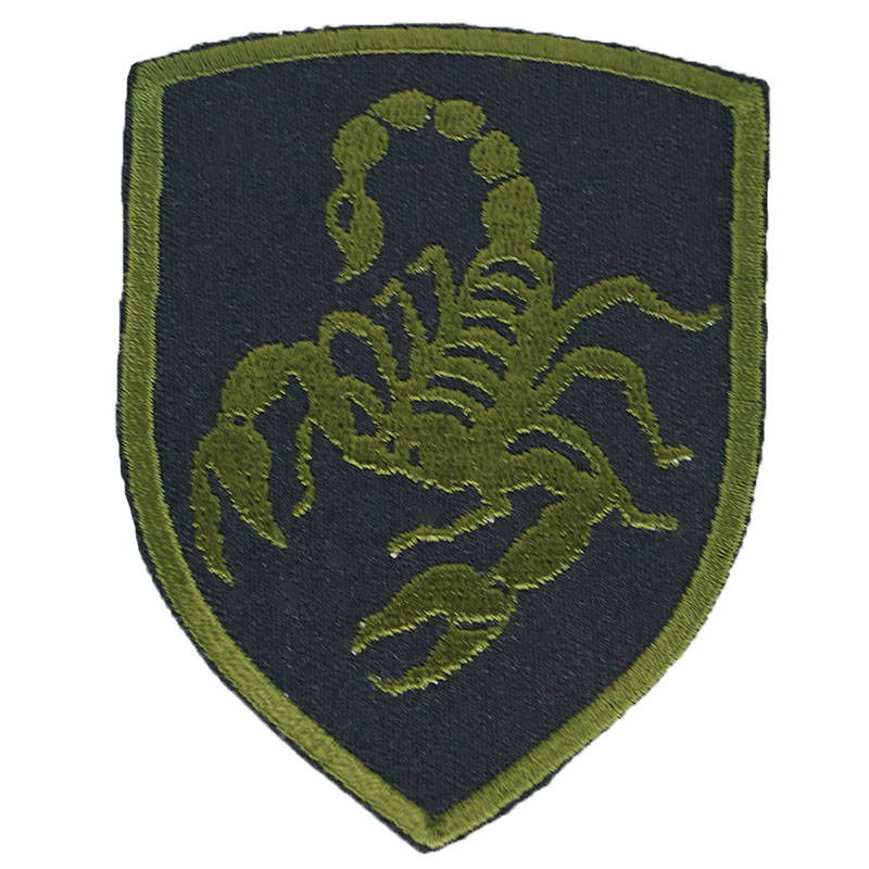 Russian Spetsnaz Scorpion Patch Olive Embroidered