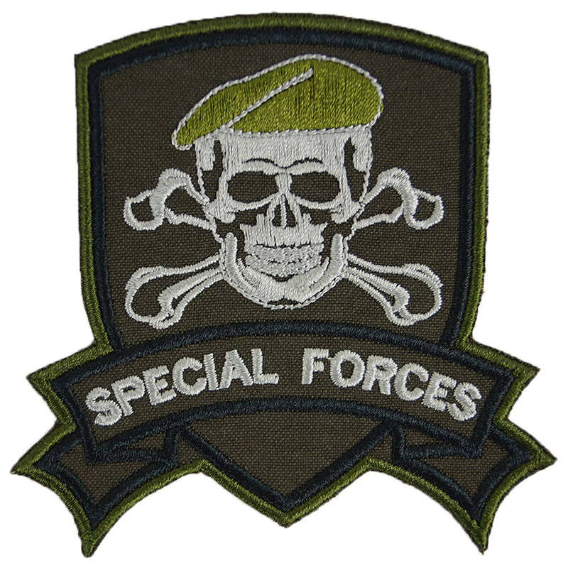 Special Forces Skull Patch Embroidered