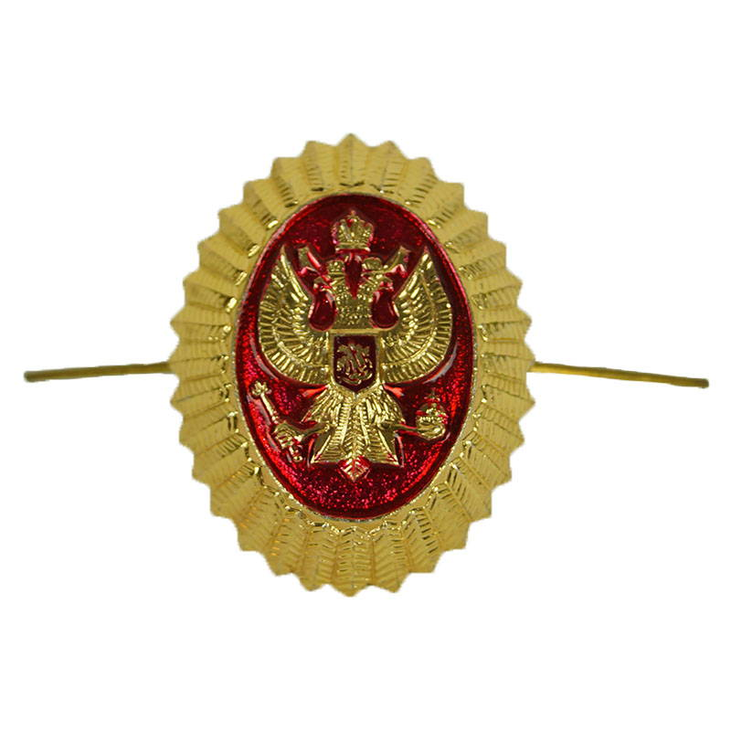 Russian Coat Of Arms Eagle Security Hat Pin Badge