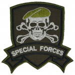 Russomilitare: Special Forces Patch Gestickt TOTENKOPF