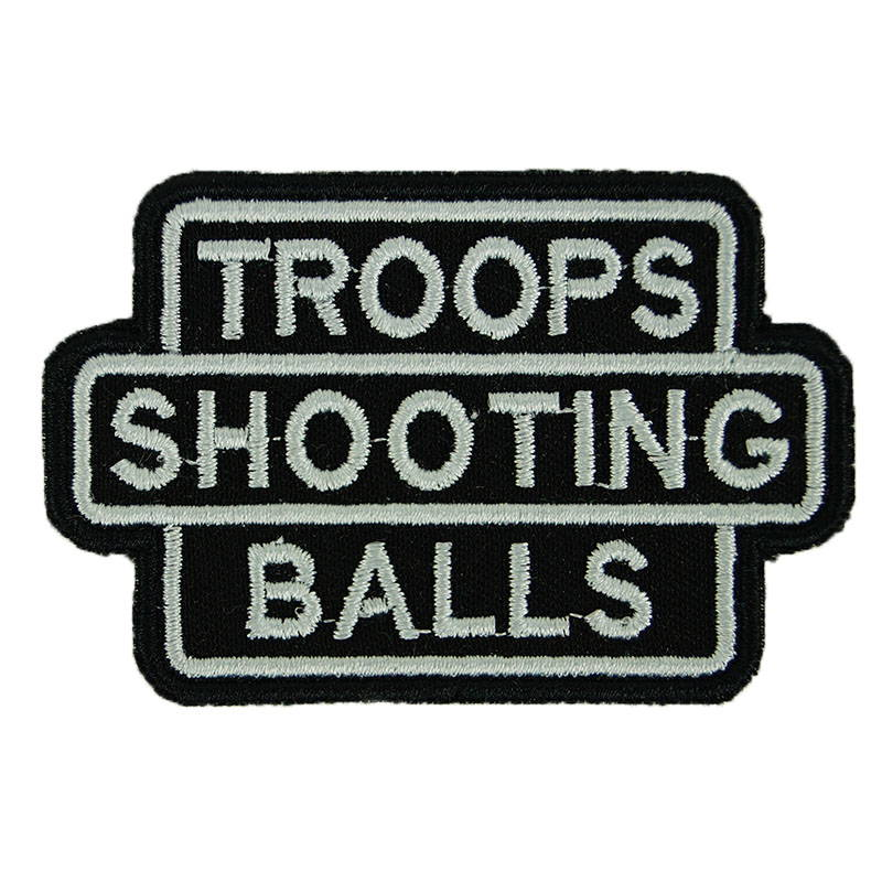 Troops Shooting Balls Airsoft Patch Embroidered