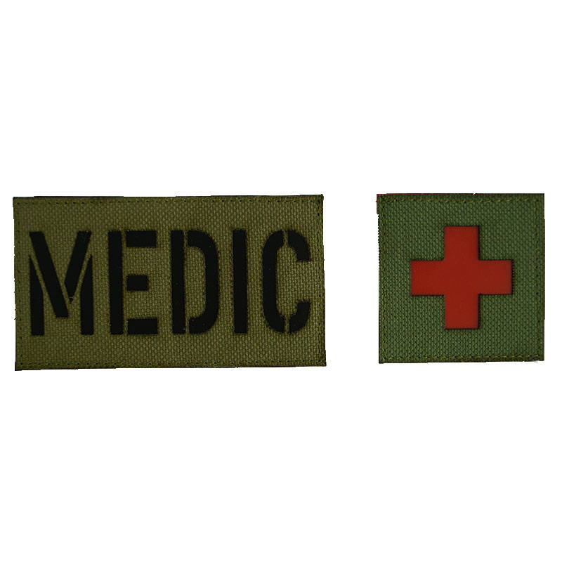 Medical Service Patch Subdued Velcro