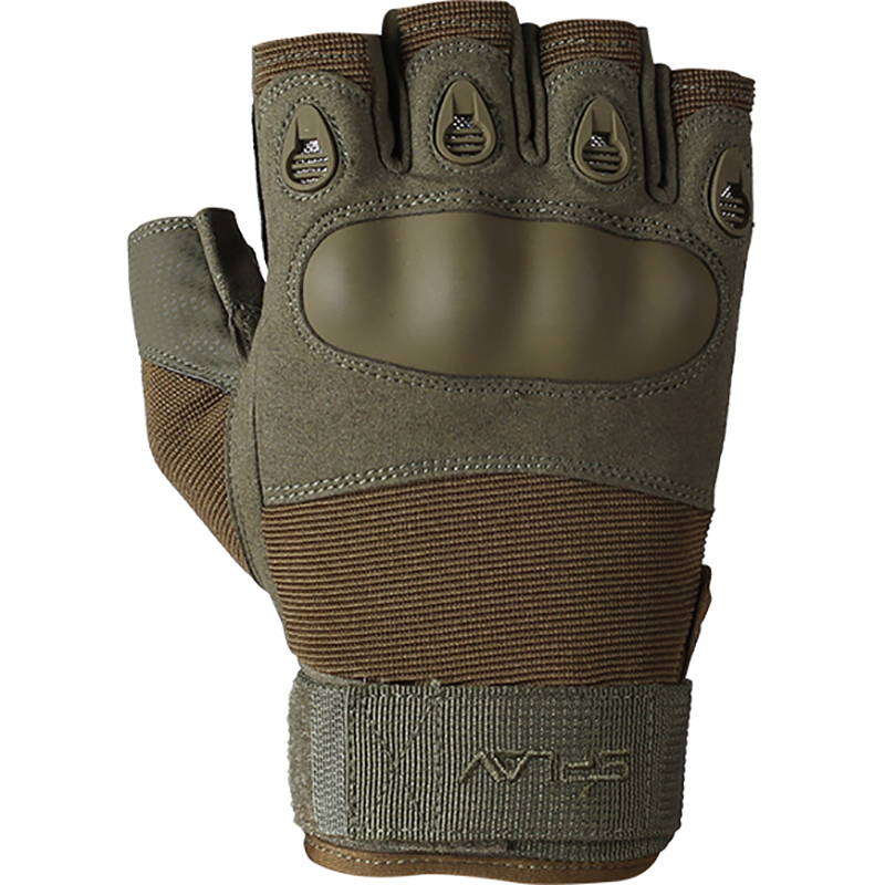 Russian Tactical Half Gloves Splav Rage Olive