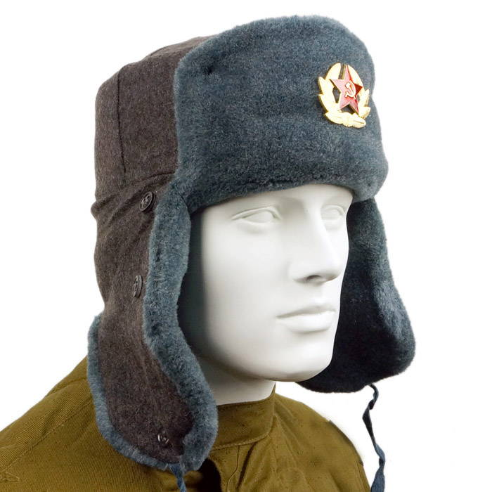 Ushanka Army Uniform Fur Hat WW2 Type