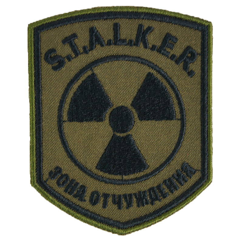 Stalker Radiation Exclusion Zone Sleeve Patch Embroidered