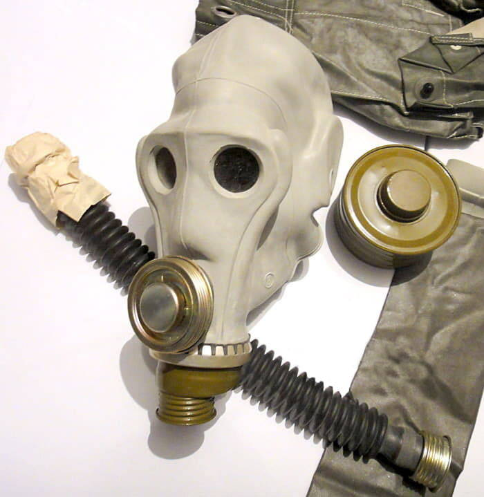 PRWU Russian Gas Mask Set with 2 Filters