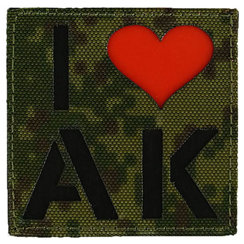 Callsign I Love Ak velcro Patch