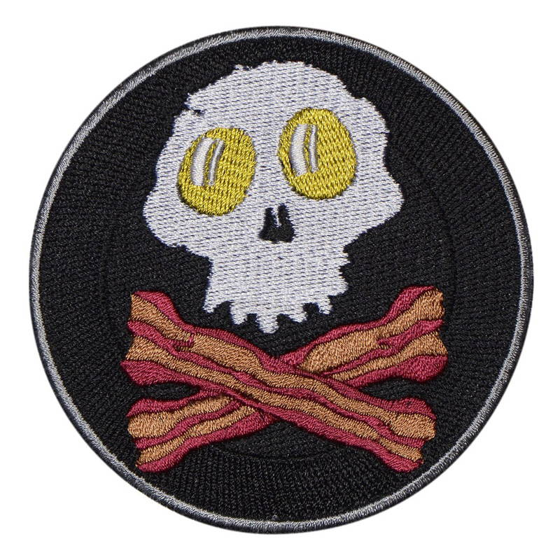 Fried Egg Skull Patch