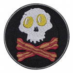 Russomilitare: Fried Egg Skull Patch