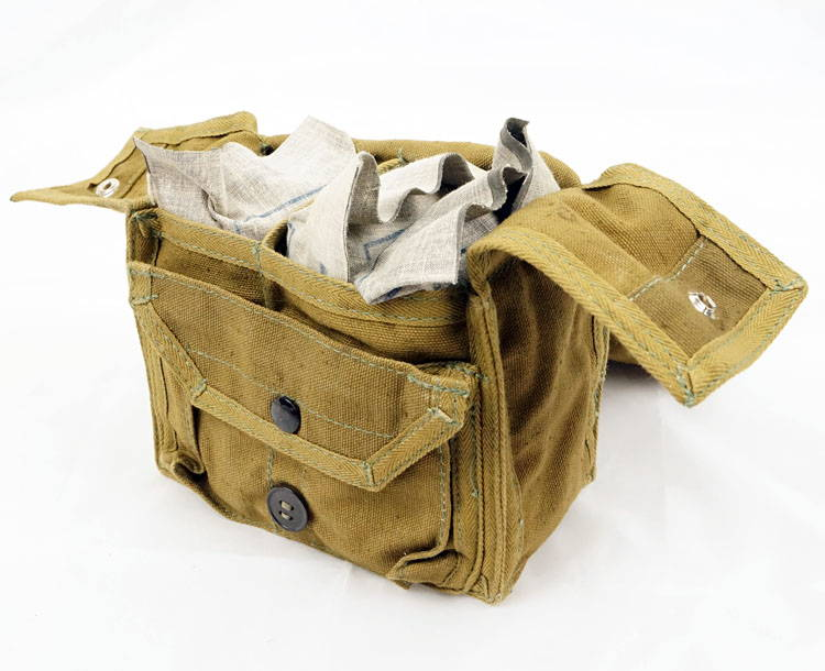 Soviet Military Army First Aid Kit Medical Belt Pouch