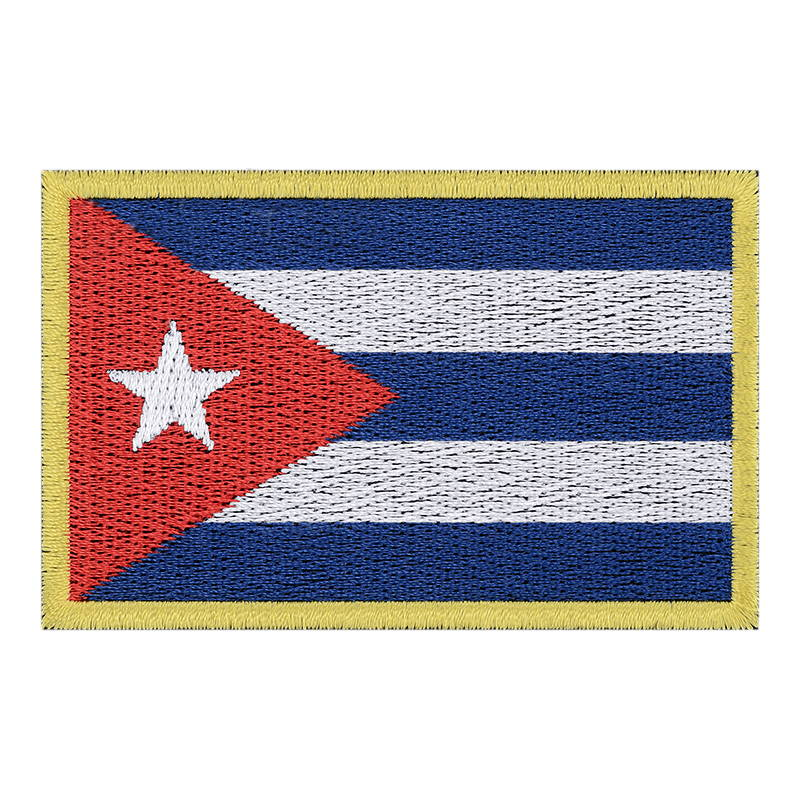National Flag Of Cuba Patch