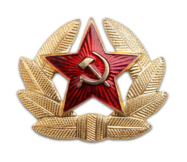 soviet hat badge