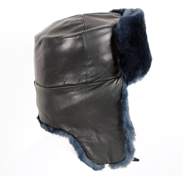 military grey ushanka hat