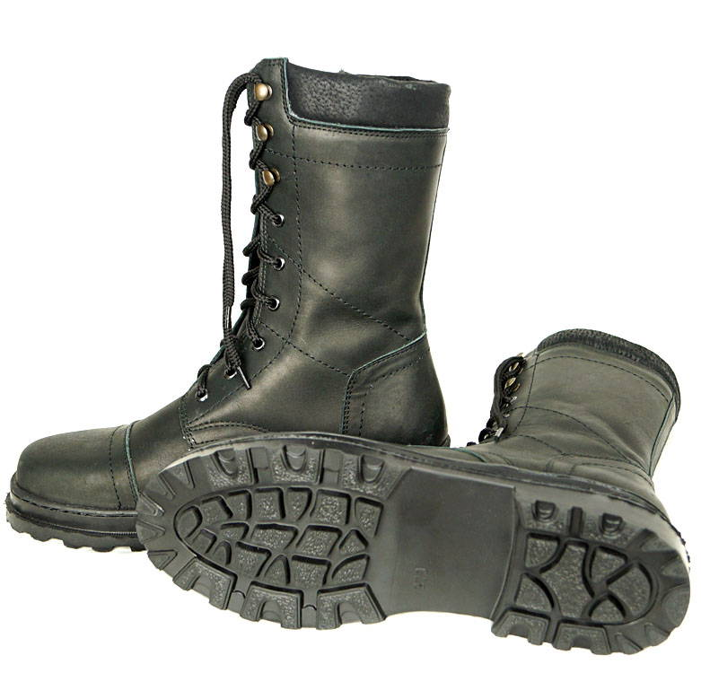 Russian army leather boots