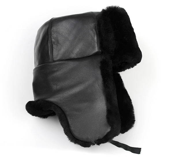 leather ushanka