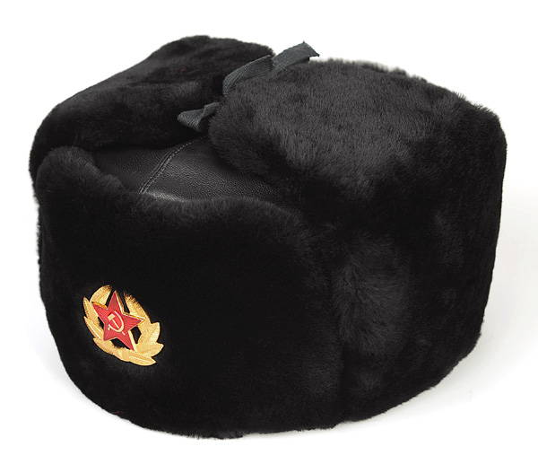 Russian Soviet Military Classic Navy Sheepskin Leather Ushanka Fur Hat