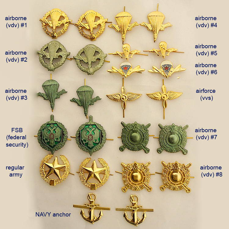 Russian Military VDV Collar Tabs - Pair