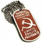 Russomilitare: Freedom Equality Brotherhood Russian Soviet Dog Tag