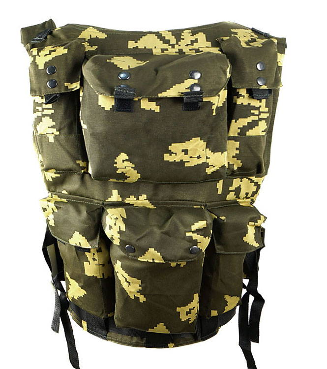 Russian Military Spetsnaz Tactical Vest Chest Rig Yellow Berezka Camo