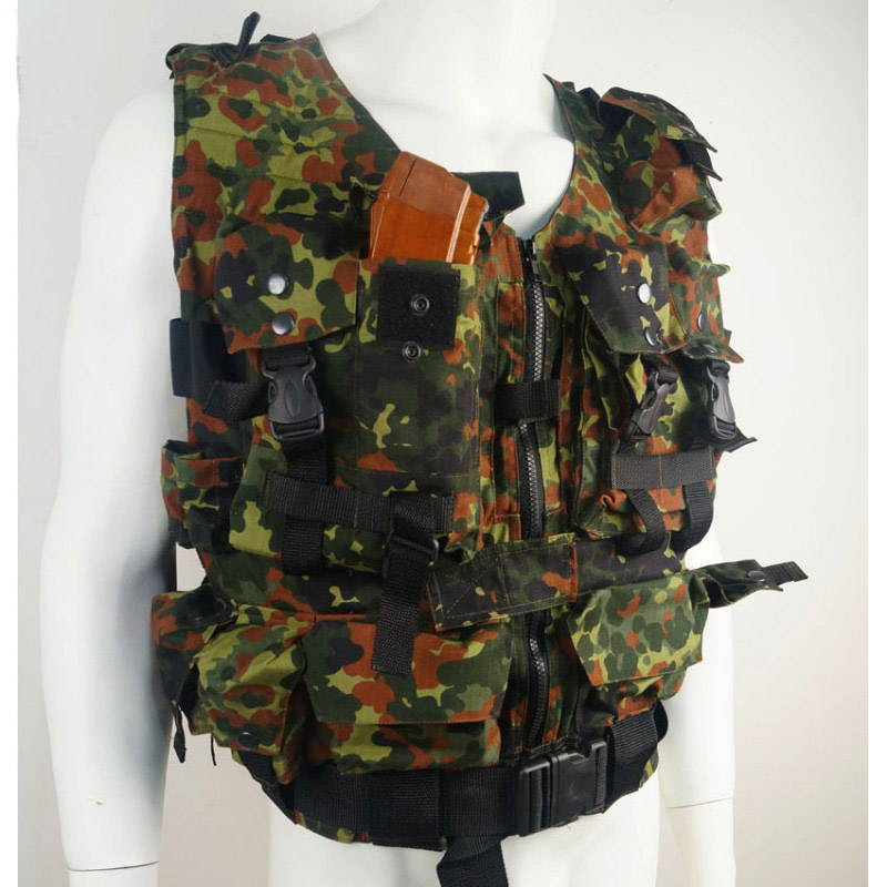 Russian Tactical Vest Flecktarn Camo Holds 8 Ak Mags Sale!