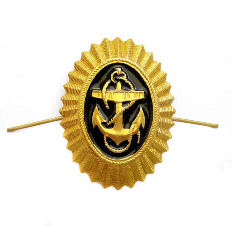 Russian Military Navy Officer Anchor Hat Badge