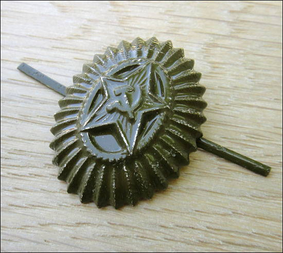 Soviet Military Officer Field Uniform Subdued Hat Badge Dimmed