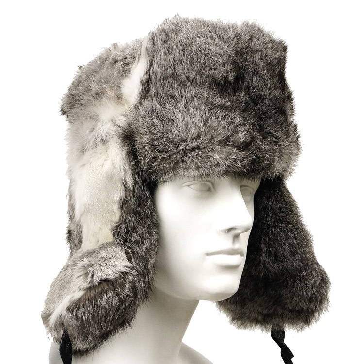 grey rabbit ushanka