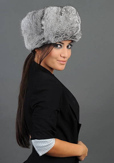 womans rabbit hat