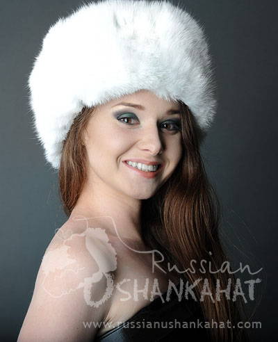 10c81549b Russian White Rabbit Ushanka Fur Hat