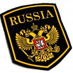 Russomilitare: Russia Eagle Crest Sleeve Patch Black Rossiya