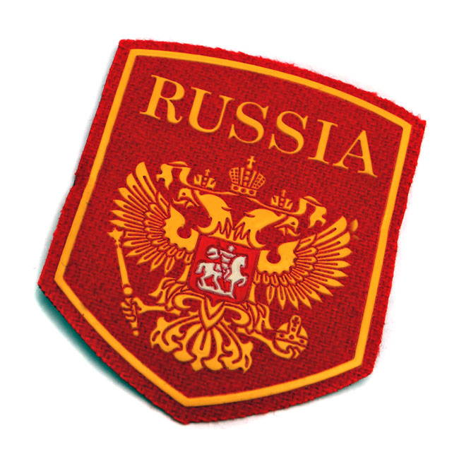 Russia Eagle Crest Sleeve Patch Red
