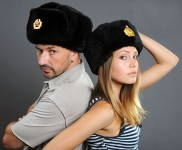 Russomilitare: Russian Military Full Fur Sheepskin Ushanka Fur Hat