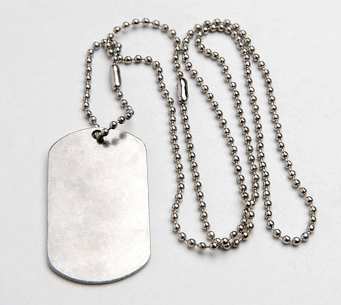 Russian Federal Security FSB Stainless Steel Dog Tag Chain