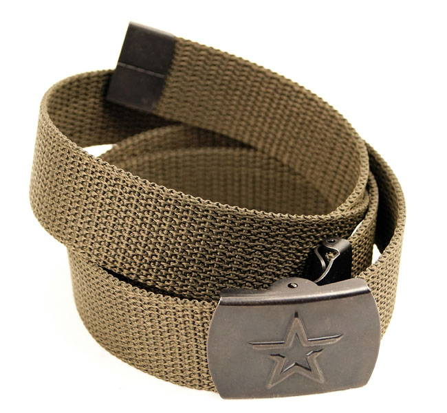 Modern Russian Army Military Uniform Belt With Star Buckle Od Olive