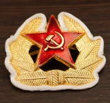 Russomilitare: Soviet Army Communist Badge Hammer & Sickle Red Star Parade with Rope