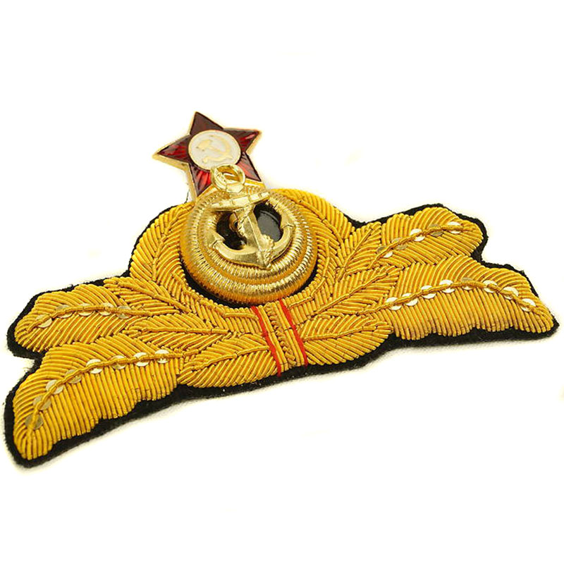Russian Naval Uniform Admiral Hat Badge Soviet Navy