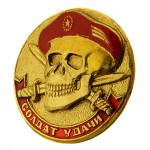 Russomilitare: Soldier of Fortune Russian Spetsnaz Red Beret Skull Badge