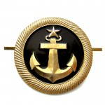Russian Trade Fleet Uniform Hat Badge Anchor Navy
