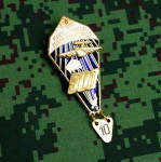 Russian Parachutist Instructor Uniform Award Chest Badge