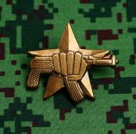 Russomilitare: Russian Special Forces Spetsnaz Uniform Award Chest Badge AK 47 74 Fist