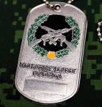 Russomilitare: Military Dog Tag motorized rifle troops AK-47