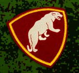 Russomilitare: Russian Army Military Special Forces Spetsnaz Panther patch red
