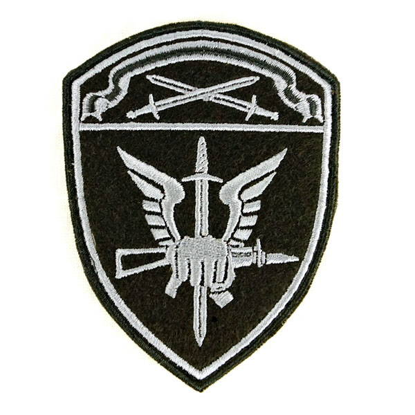 Russian Military Spetsnaz Guards Ak Fist Patch New Black Velcro