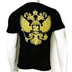 Russomilitare: Russian Coat of Arms Eagle Black T-Shirt