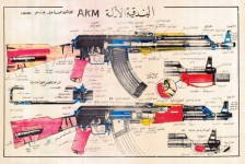 Russomilitare: Iraq Soviet AKM Kalashnikov Russian Rifle Military Instructive Poster