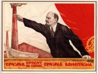 Russomilitare: A ghost wanders around Europe, a ghost of communism - Soviet Russian Propaganda Poster Lenin