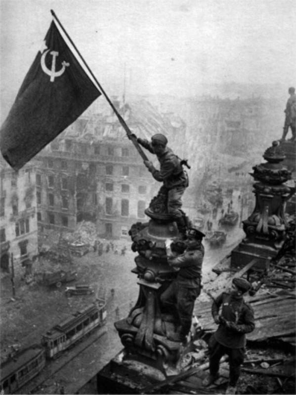 Flag Over The Reichstag Ww2 Poster